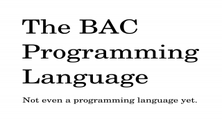 The BAC Programming Language